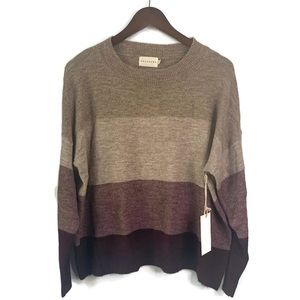 NWT Dreamers Brown Purple Ombré Sweater | S